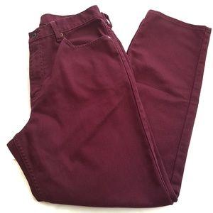 L.L. BEAN Red Wine Jeans